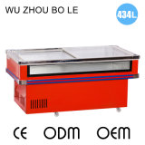 Congélateur clair avant frigorifié et congelé de vente chaude de fruits de mer