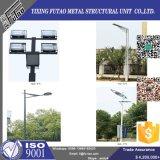 Poste de acero solar galvanizado de la lámpara de la INMERSIÓN caliente de Q235 Q345