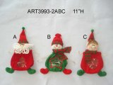 "14 ""H Shelf Sitter Santa, Snowman et Elf, 3 Décoration Asst-Christmas"