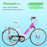 """28 """"クイックリリース電池が付いている開いたフレームの電気自転車"""