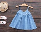 Robe de supports de denim de mode de filles de gosses de jupe d'été de vêtements d'enfants