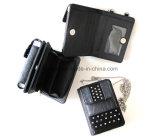 Handy Th-P6003 Mappe mit gefälschtem Diamanten, PU Dame Card Wallet