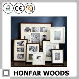 ホーム装飾のための正方形の黒い木製映像の写真フレーム