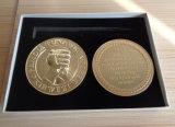 Goldtone монетка сплава цинка металла в коробке подарка, Кении