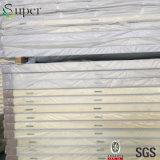 el panel de la PU del poliuretano de 100m m para el suelo del sitio de conservación en cámara frigorífica
