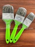 Cepillo de pintura de mango de plástico con filamentos de mascota Material de cerda mezclada