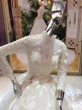 長い袖が付いている新しい到着の2017年の王女ウェディングドレス