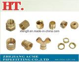 Encaixe de tubulação de bronze do adaptador da farpa da mangueira (5/16*3/8)