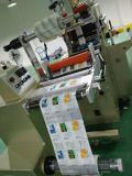 Rolo para rolar a máquina cortando da etiqueta para a venda