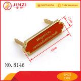Etiket het van uitstekende kwaliteit van het Embleem van het Metaal van de Douane voor de Decoratie van de Handtas