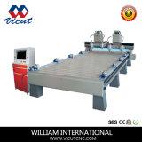 Máquina experta del ranurador del CNC de la carpintería del fabricante (VCT-1540-2Z-4H)