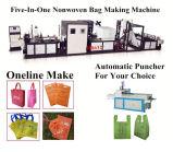 Linha de produção cheia estaca de sopro da selagem da impressão que recicl o tipo e o saco de compra novo de Condtion que fazem a máquina