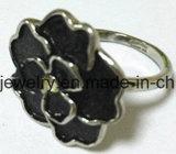 Anillo de bastidor de la flor de la joyería del acero inoxidable de la manera SCR2883