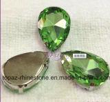 Pedra extravagante de cristal da gota do rasgo com guarnição do Rhinestone do ajuste da garra (Interruptor-Gota 18*25)