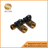 Distribuidor de bronze com medidor de fluxo para o distribuidor do aquecimento Underfloor