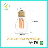 Edison LED 필라멘트 A15 6W E26/E27 Dimmable 고성능 LED