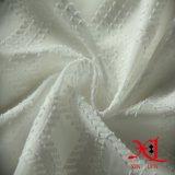 De zuivere Witte Stof van de Chiffon van de Polyester van de jacquard voor het Kledingstuk van Vrouwen