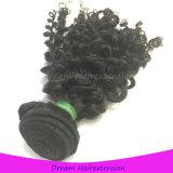 巻き毛贅沢な人間の毛髪の加工されていないインドのバージンの毛