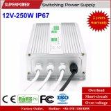 일정한 전압 12V 250W LED 방수 엇바꾸기 전력 공급 IP67