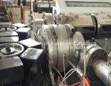 PE PP PVC二重壁によって波形を付けられる管の放出の行225-800 mmの生産ラインかプラスチック押出機