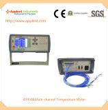 8개의 채널 통신로 (AT4808)를 가진 디지털 온도 기록병