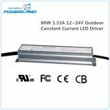 excitador constante impermeável ao ar livre do diodo emissor de luz da corrente de 80W 3.33A 12~24V