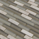 Стекло классического смешивания плитки мозаики травертина типа кристаллический