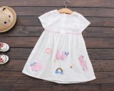 Kind-Kleidung-Mädchen-Sommer-Fußleisten-Form-Baumwollkleid 100%