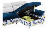 記憶の回転イスが付いている現代ファブリックコーナーのソファーベッド