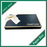 Caixas de cartão luxuosas decorativas pequenas uma parte superior e uma parte inferior