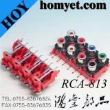 RCA Connector/8 de Hefboom Socket/RCA van Gaten RCA (hy-rca-813)
