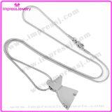 Preiswerte Edelstahl-Verbrennung-hängende Halsketten-verascht Kristallaugen-Haustier der HundIjd8185 Form-316L Andenken-Halter