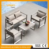 Diversa mesa de centro del sofá de la combinación de la buena calidad del jardín de los muebles al aire libre modernos del patio con el conjunto superior de madera plástico del sofá
