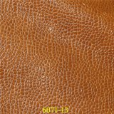 PUの標準的な光沢のある石造りの穀物が付いている物質的な方法靴革