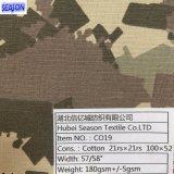 Leinwandbindung-Gewebe des T-/C21*21 100*52 175GSM 80% gefärbtes Polyester-20% Baumwolle für Arbeitskleidung