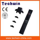 Contrassegno tenuto in mano del cavo ottico di Techwin
