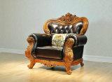 Sofà classico della mobilia del cuoio domestico del salone (UL-NS056)