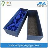 Black Cardboard Luxo Presente Individual Rose Box Packaging Flor com Velvet Insert