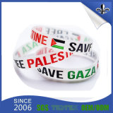 Bracelete econômico Eco-Friendly do silicone da cor branca