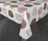 Tablecloth impresso colorido barato do teste padrão do PVC do projeto novo com revestimento protetor não tecido