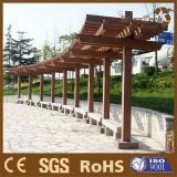 Pérgola de madera de Foshan WPC, sombrilla de madera en el parque