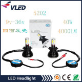 Guangzhou Auto Parts H7 Headlight Hot Product 4000lm 40W G5 LED Headlight Car