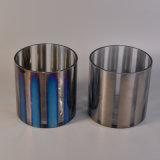 Bougeoirs en verre avec des couleurs électrodéposantes