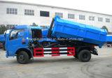 6 roues 125HP 6 tonnes de camion 6000 L camion de crochet d'ordures de roulis de bras