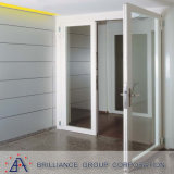 Air Tight Double Glass White Alumínio Frame Interior Double French Doors