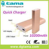 Batería móvil portable de carga rápida de la potencia QC2.0 10200mAh para Smartphone