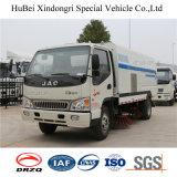 caminhão Euro4 da vassoura do aspirador de p30 da estrada de 4cbm JAC