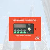 Panneau accessible d'annonciateur de signal d'incendie d'Aw-D116 Asenware