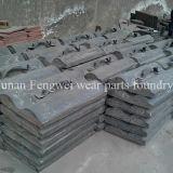 Forro elevado do triturador do aço de manganês para moinhos de esfera