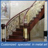 金Customozedはホテルのロビーのためのパターンステンレス鋼階段手すりを切り分ける